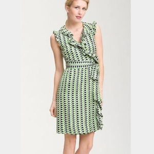 🎉Host Pick🎉 Kate Spade Aubrey Silk Wrap Dress